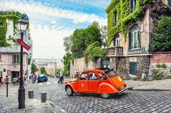 Montmarte District in Paris