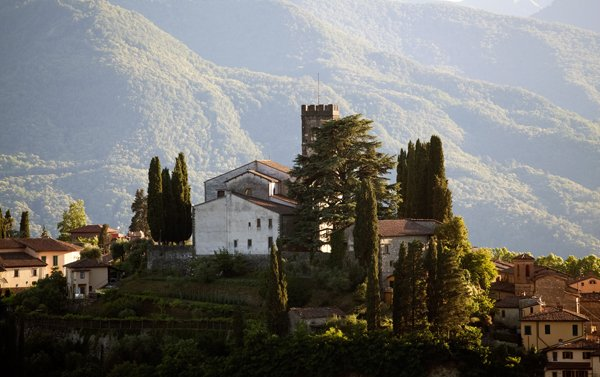 Barga in Garfagnana Region of Italy