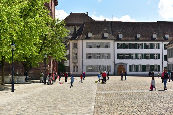 Muensterplatz in Basel, Switzerland
