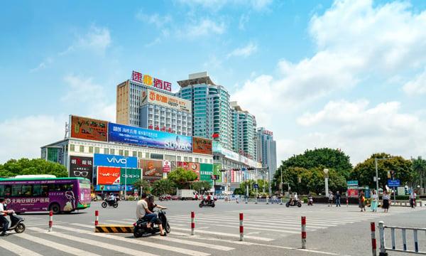 Beibu Gulf Square in Beihai, China