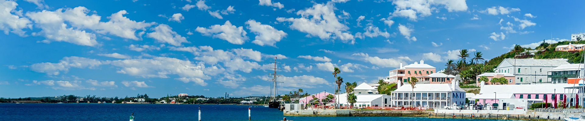Waterfront in St. George's, Bermuda.