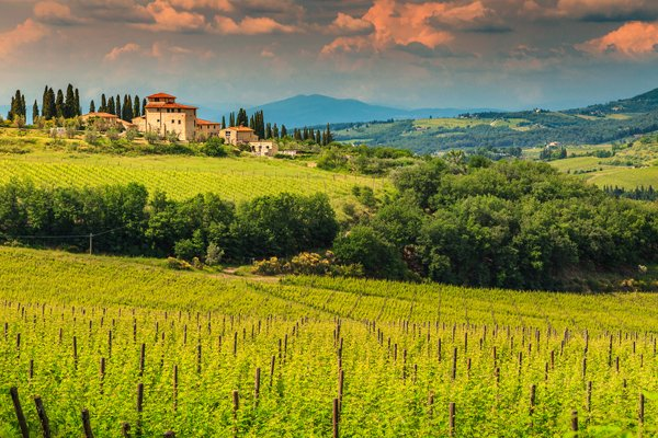 Italy's Chianti Region South of Florence