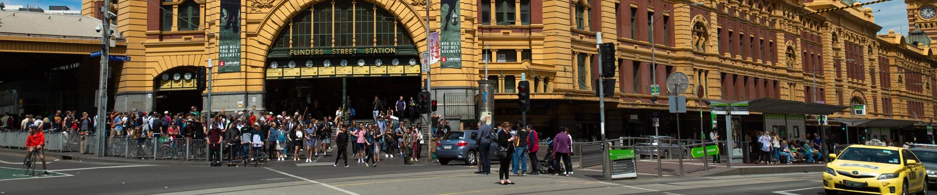 Flinders Street in Melbourne, Australia