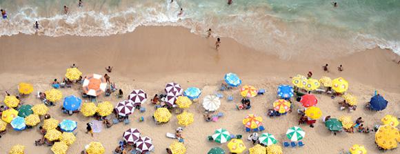 A View of a City Beach in Recife, Brazil