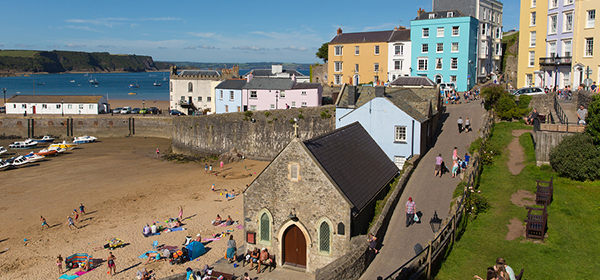Tenby, Wales in the United Kingdom