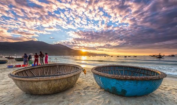 Early Morning Fishing in Da Nang, Vietnam