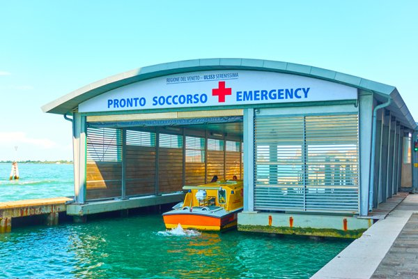 Emergency Boat Station In Venice