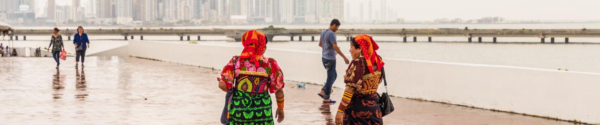 Kuna Yala women in Panama City