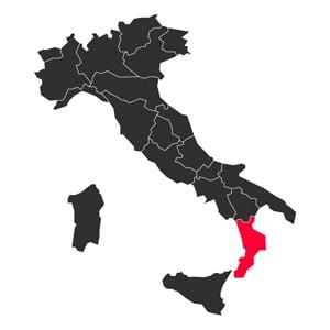 Map Calabria Italy