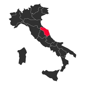 Map Le Marche Italy