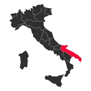 Map Puglia Italy