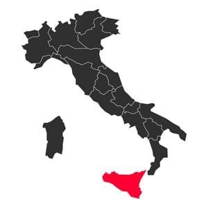 Map Sicily Italy