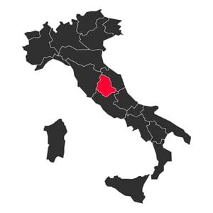 Map Umbria Italy