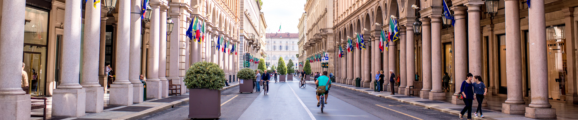 Via Garibaldi in Turin, Italy