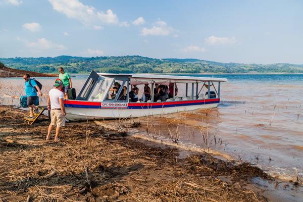 Ferry Crossing Laguna de Arenal in Costa Rica