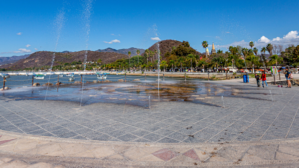 The Lakefront Promenade in Lake Chapala, Mexico