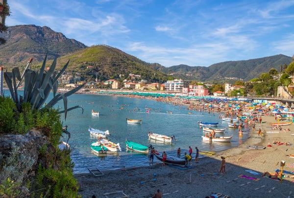 Levanto in the Liguria Region of Italy