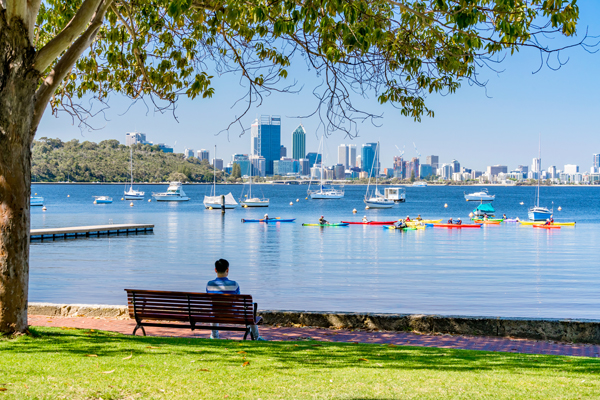 Matilda Bay in Perth, Australia