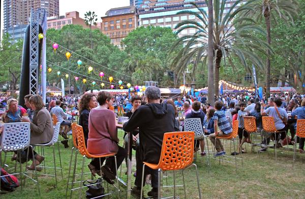 Night Noodle Market at Hyde Park in Sydney