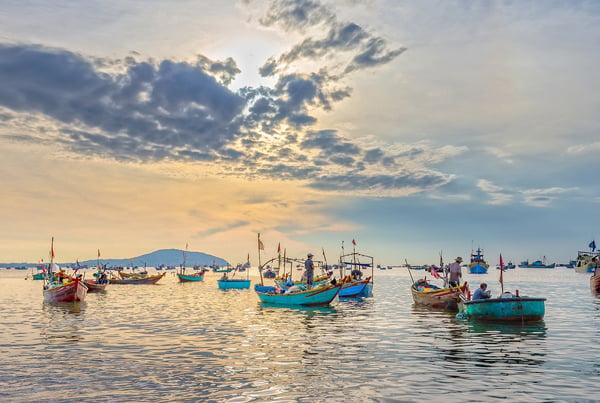 Fishing in Phan Thiet, Vietnam