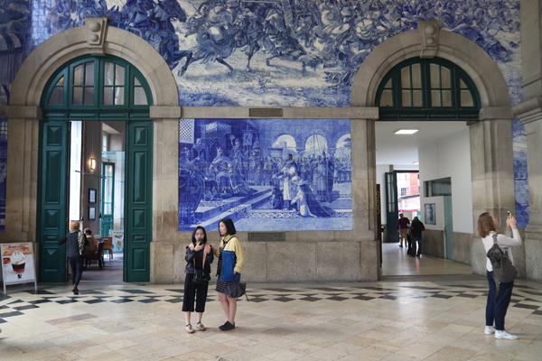 Sao Bento Station in Porto, Portugal
