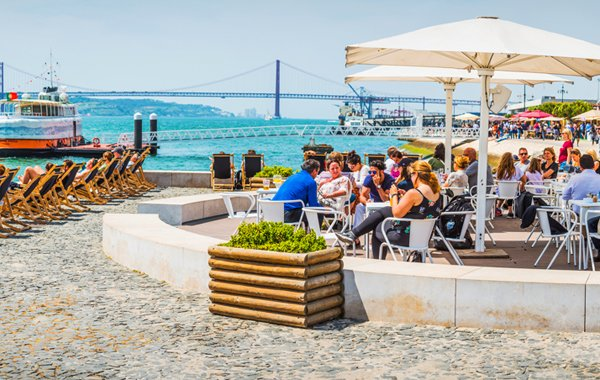 Along the Tagus Waterfront in Lisbon