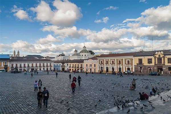 Plaza San Fransisco in Quito, Ecuador