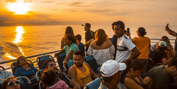 Ferry to Roatan, Honduras