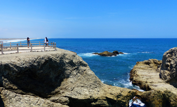 La Chocolatera, the westernmost Point in Ecuador is located in Salinas
