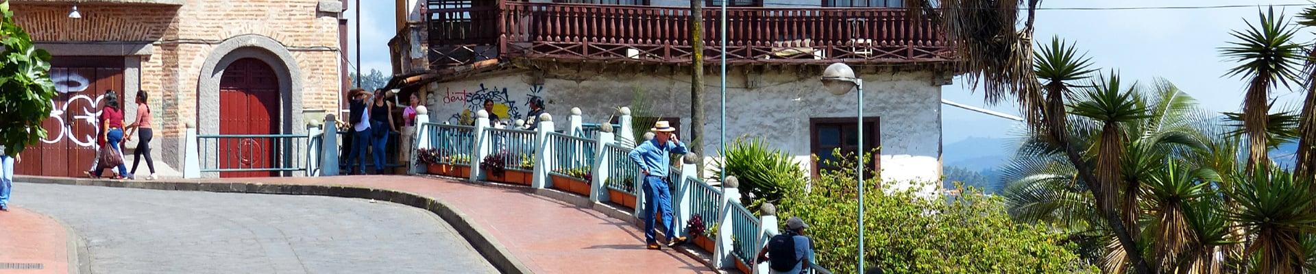 Street Tres de Noveimbre in Cuenca, Ecuador