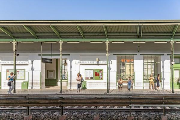 Waehringer Strasse Station in Vienna, Austria